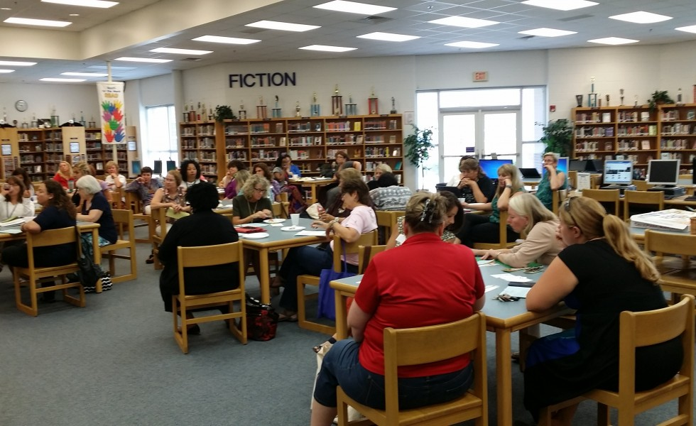 More than 40 people attended the first VBEA rep meeting of the 2015-16 school year.